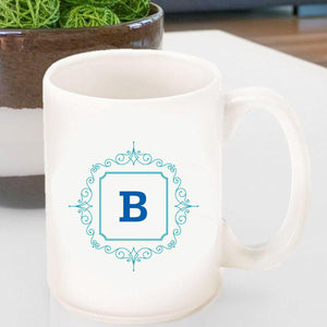 Personalized Coffee Mug- Initial Motif-Personalized Gifts