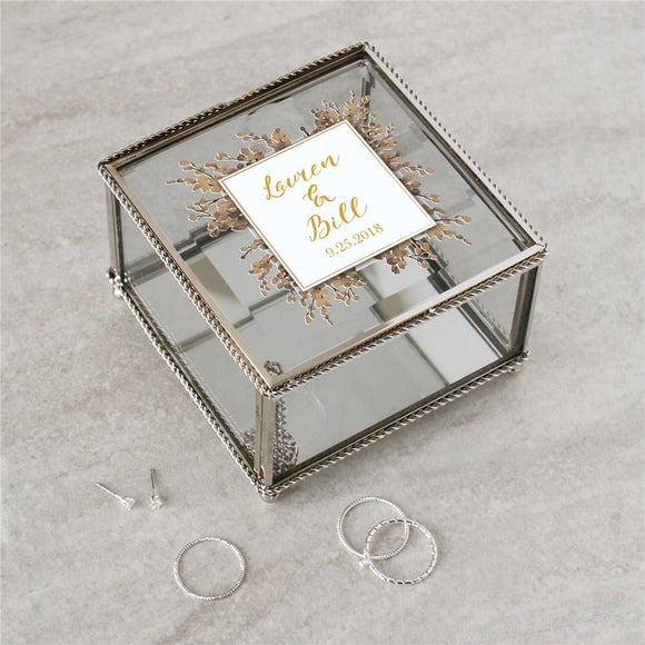 Personalized Couples Jewelry Box-Personalized Gifts