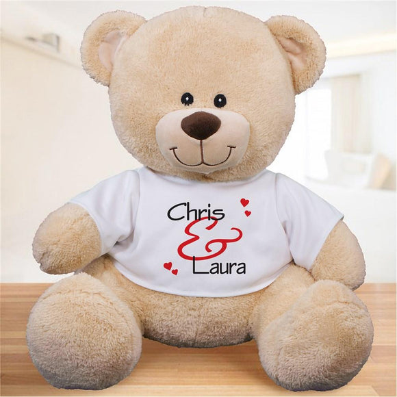 Personalized Couples Plush Teddy Bear-Personalized Gifts
