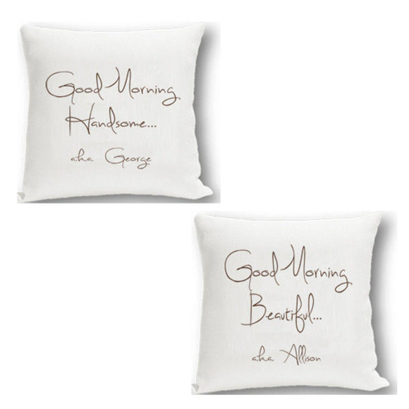 Personalized Couples Throw Pillow Set-Personalized Gifts