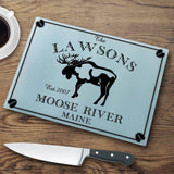 Personalized Cutting Boards - Glass - Cabin Decor - Cabin Series-Personalized Gifts