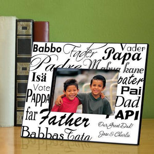 Personalized Dad in Translation Frame - Black/White-Personalized Gifts