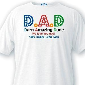 Personalized Dad T-Shirts - Darn Amazing Dad-Personalized Gifts