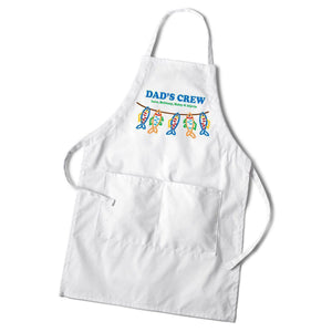 Personalized Dad's White Apron-Personalized Gifts