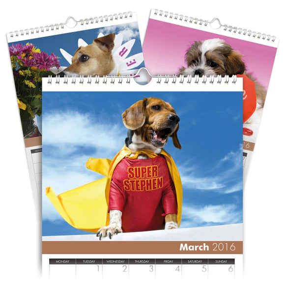 Personalized Dogs Calendar-Personalized Gifts