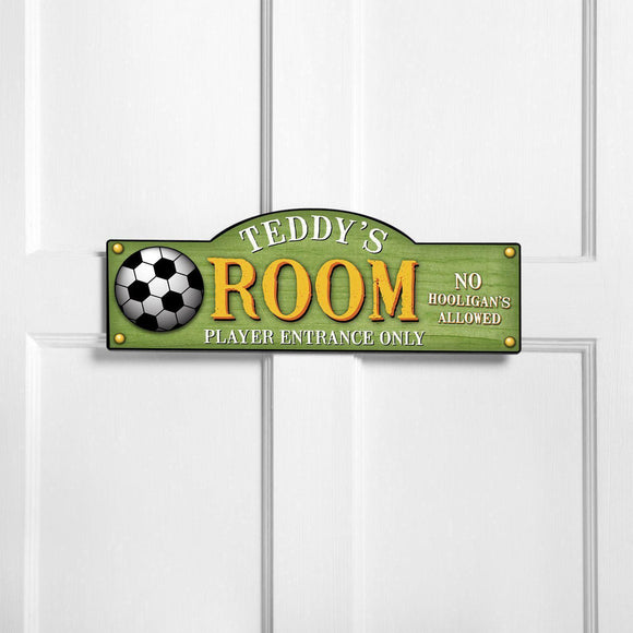 Personalized Door Signs - Room Sign - Sports Themed Signs-Personalized Gifts