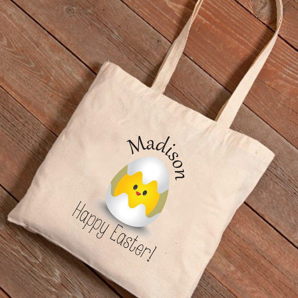 Personalized Easter Canvas Bag - Baby Chick-Personalized Gifts