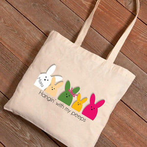 Personalized Easter Canvas Bag - Bunnies-Personalized Gifts