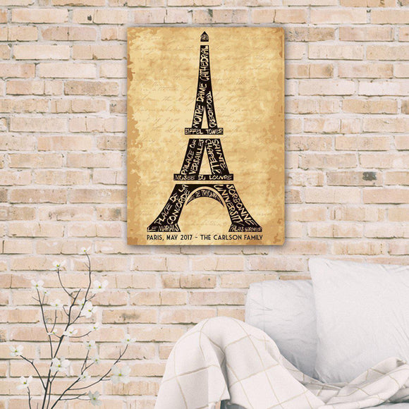 Personalized Eiffel Tower Canvas-Personalized Gifts