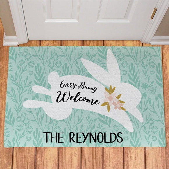 Personalized Every Bunny Welcome Doormat-Personalized Gifts