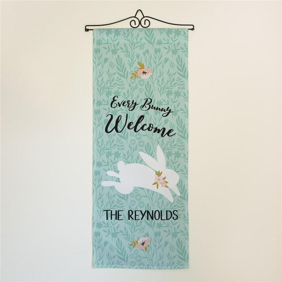 Personalized Every Bunny Welcome Wall Hanging Personalized Gifts