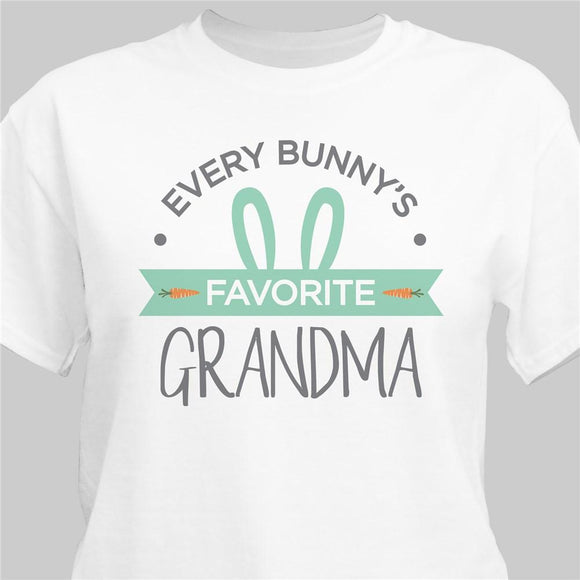 Personalized Every Bunny's Favorite Grandma T-Shirt-Personalized Gifts