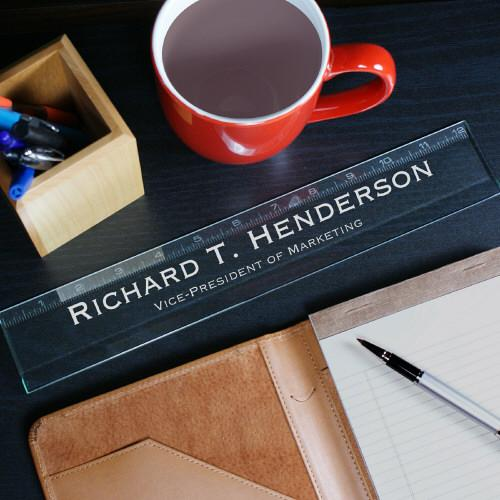Personalized Executive Glass Ruler-Personalized Gifts