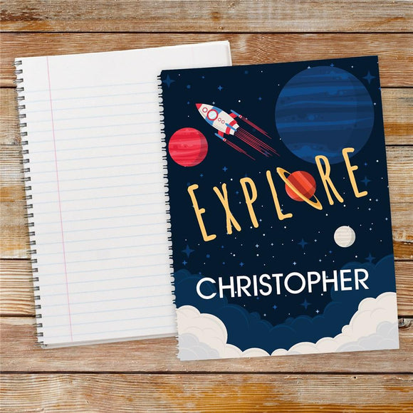 Personalized Explore Space Notebook Set-Personalized Gifts