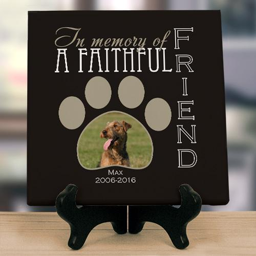 Personalized Faithful Friend Photo Memorial Canvas-Personalized Gifts