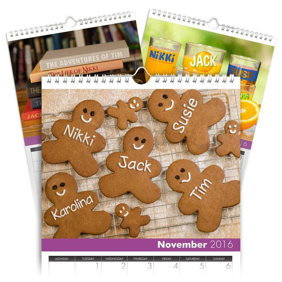 Personalized Family Calendar for 5 Names-Personalized Gifts