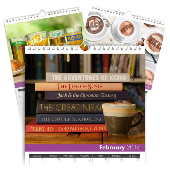 Personalized Family Calendar for 6 Names-Personalized Gifts
