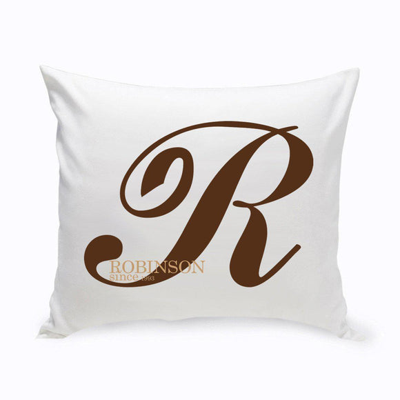 Personalized Family Initial Throw Pillow-Personalized Gifts