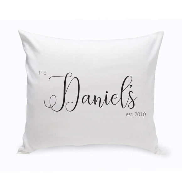 Personalized Family Last Name Modern Farmhouse Throw Pillow-Personalized Gifts