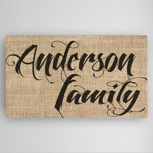 Personalized Family Name Canvas Sign-Personalized Gifts