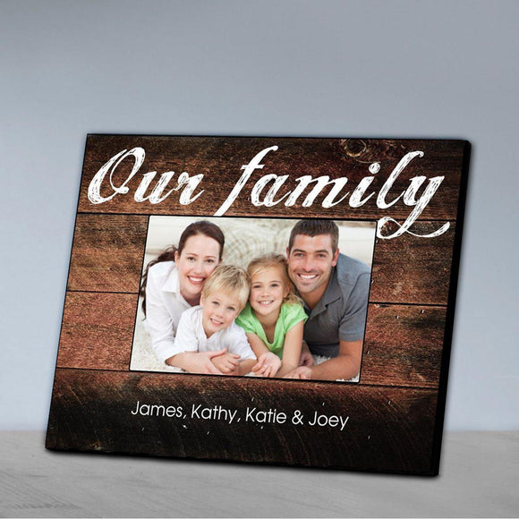 Personalized Family Picture Frame - Our Family-Personalized Gifts