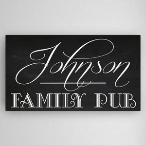 Personalized Family Pub Canvas Sign-Personalized Gifts