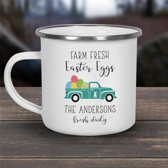 Personalized Farm Fresh Easter Eggs Camping Mug-Personalized Gifts
