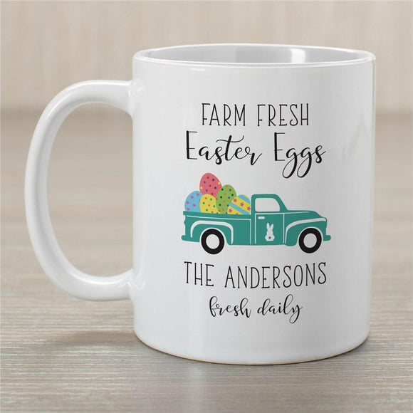 Personalized Farm Fresh Easter Eggs Mug-Personalized Gifts