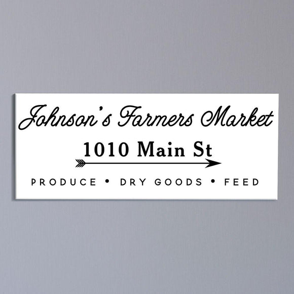 Personalized Farmers Market Address Sign-Personalized Gifts