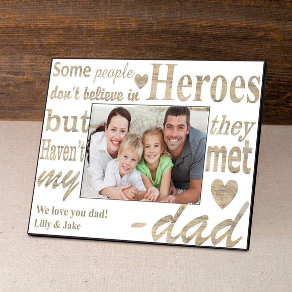 Personalized Father's Day Frame-My Hero-Personalized Gifts
