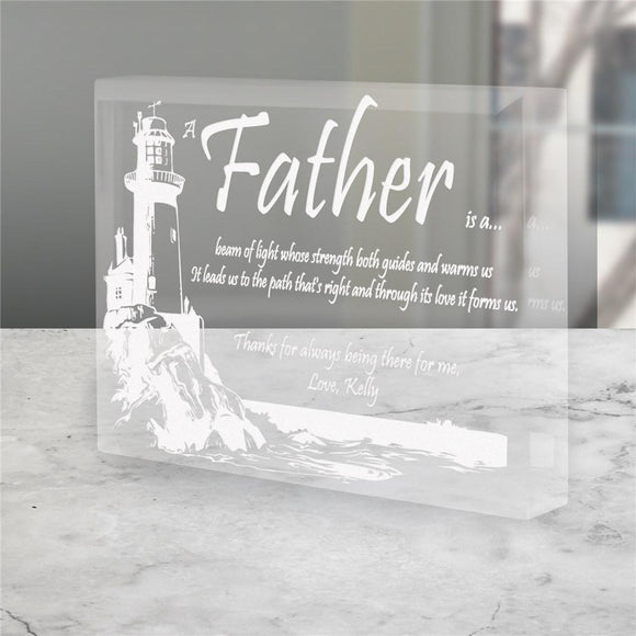 Personalized Father's Day Keepsake - Lighting The Way-Personalized Gifts