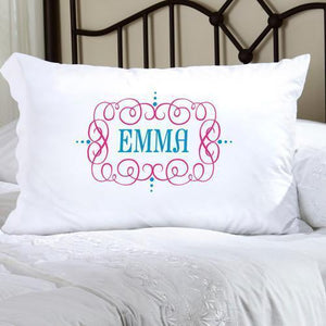 Personalized Felicity Glamour Girl Pillow Case-Personalized Gifts