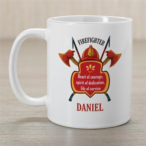 Personalized Firefighter Coffee Mug-Personalized Gifts