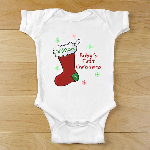 Personalized First Christmas Infant Apparel-Personalized Gifts