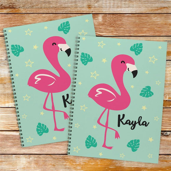 Personalized Flamingo Notebook Set-Personalized Gifts