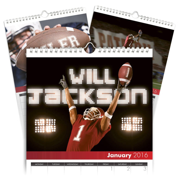 Personalized Football Calendar-Personalized Gifts