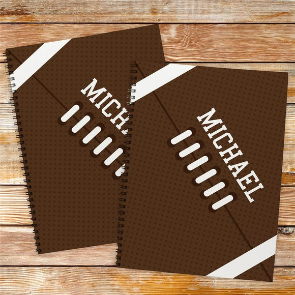 Personalized Football Notebook Set-Personalized Gifts