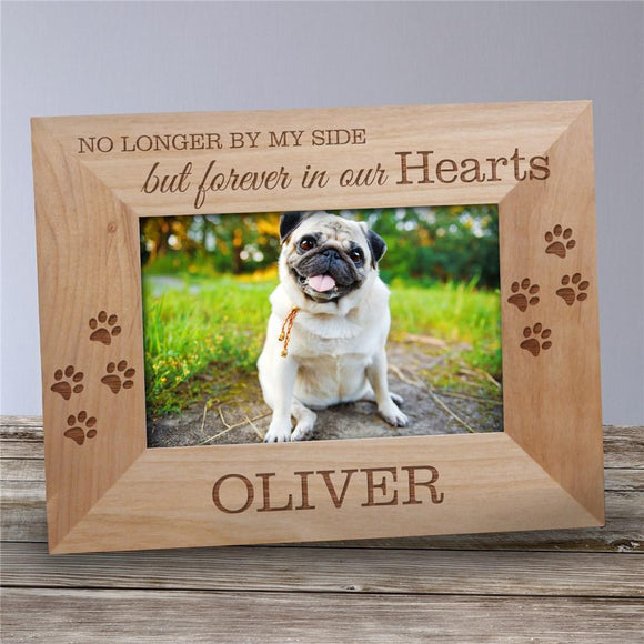 Personalized Forever In Our Hearts Pet Wooden Picture Frame-Personalized Gifts