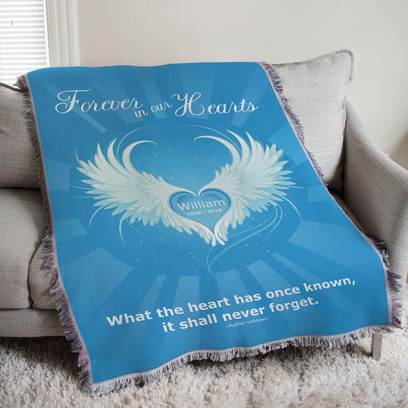 Personalized Forever In Our Hearts Tapestry Throw-Personalized Gifts