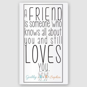 Personalized Friends Canvas Sign-Personalized Gifts