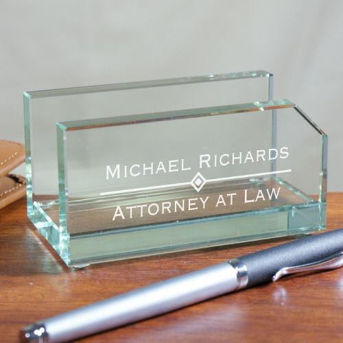 Personalized Glass Business Card Holder-Personalized Gifts