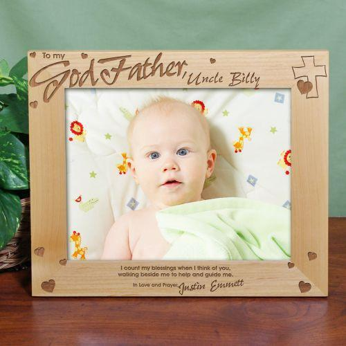 Personalized Godfather Wood Picture Frame 8x10-Personalized Gifts