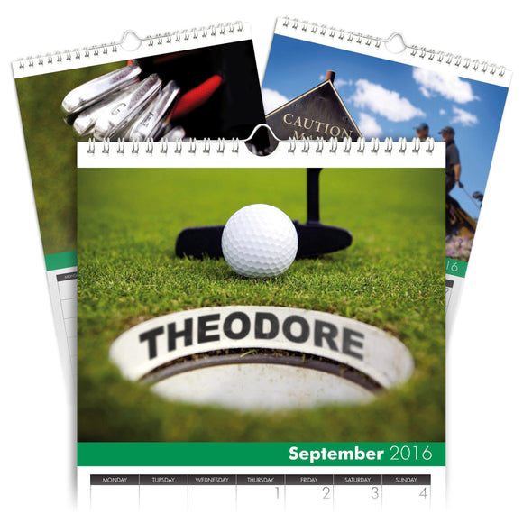 Personalized Golf Calendar-Personalized Gifts