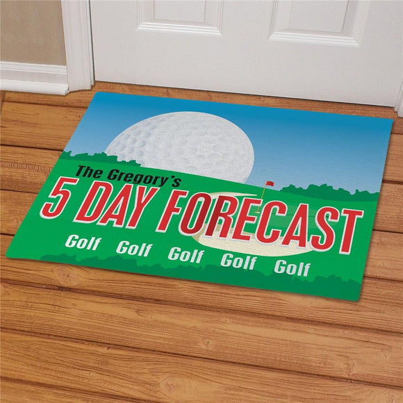 Personalized Golf Forecast Doormat-Personalized Gifts