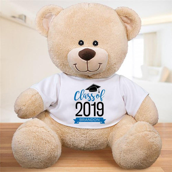 Personalized Graduate Hat With Banner Sherman Bear-Personalized Gifts