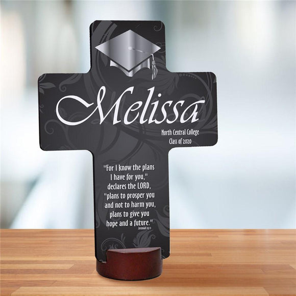 Personalized Graduation Blessing Cross Keepsake-Personalized Gifts