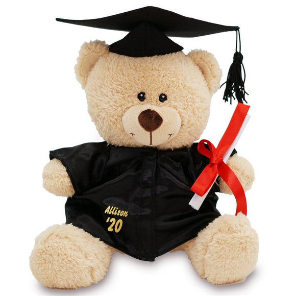 Personalized Graduation Cap and Gown Teddy Bear-Personalized Gifts