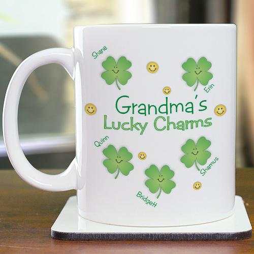 Personalized Grandma's Lucky Charms Coffee Mug-Personalized Gifts