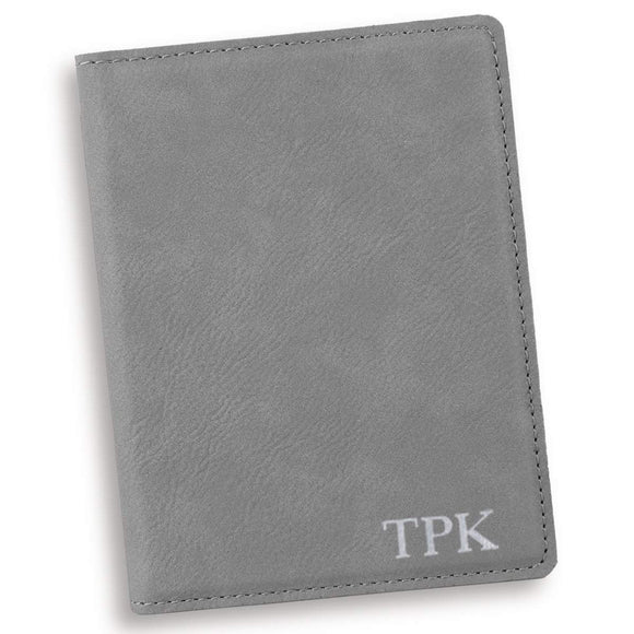 Personalized Gray Passport Holder-Personalized Gifts