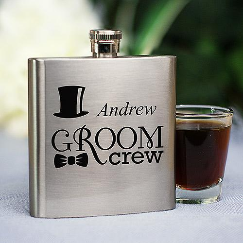 Personalized Groom Crew Flask-Personalized Gifts